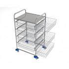 vozíky na přepravu a třídění odpadu a prádla - Ambulant maxi 3