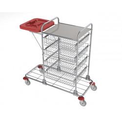 vozíky na přepravu a třídění odpadu a prádla - Ambulant maxi 4