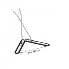 nůžkový mop - 105cm - smyčka + rozstřih