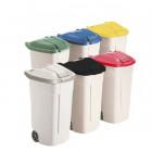 Víko modré -  mobilní odpadkový koš 100 l - balení 4ks