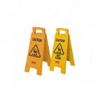 Podlahová cedule se symbolem POZOR  - žlutá - balení 6ks