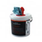 Wiper bowl Polytex, Vlhčené čisticí utěrky v kbelíku, 72 útržků, 25x25 cm - balení 6 kbelíků